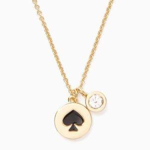 NEW Kate Spade Spot the Spade Necklace ~ Black